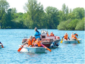 Segeln am Unterbacher See